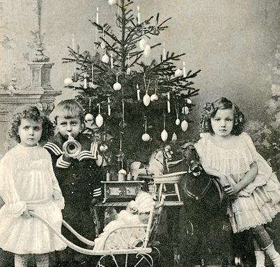 Viktorianisches Weihnachtsphoto