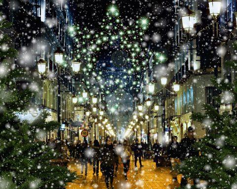 Einkaufsbummel Weihnachten